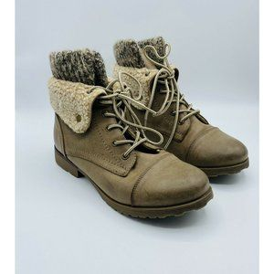 Rock & Candy Green Faux Leather Fold Over Booties